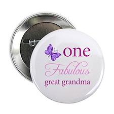 "One Fabulous Great Grandma 2.25"" Button"