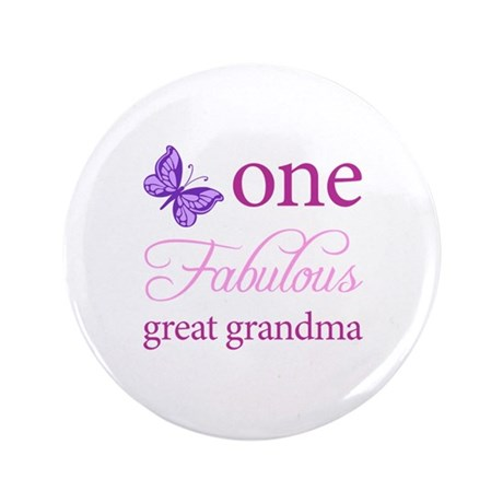 """One Fabulous Great Grandma 3.5"""" Button (100 pack)"""