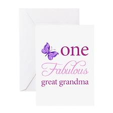 One Fabulous Great Grandma Greeting Card