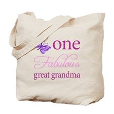One Fabulous Great Grandma Tote Bag