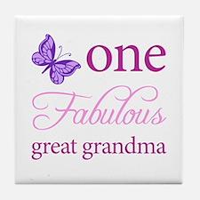 One Fabulous Great Grandma Tile Coaster