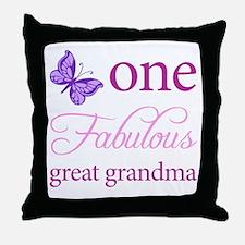 One Fabulous Great Grandma Throw Pillow