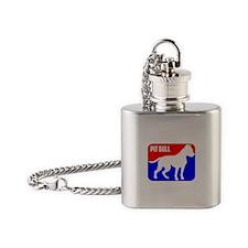 Major League Pit Bull Dog Flask Necklace