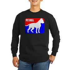 Major League Pit Bull Dog Long Sleeve T-Shirt