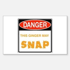 Redhead Rectangle Decal