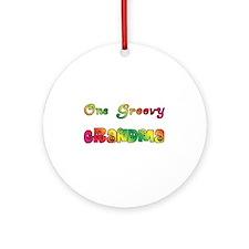 One Groovy Grandma Ornament (Round)