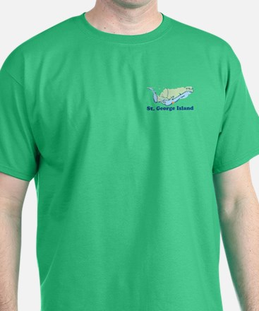 St. George Island - Map Design. T-Shirt