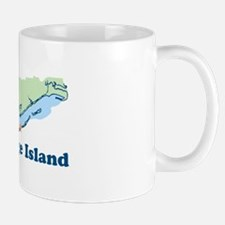St. George Island - Map Design. Mug