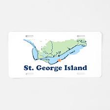 St. George Island - Map Design. Aluminum License P