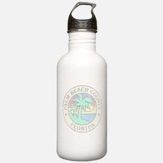 Vintage Palm Beach County Water Bottle