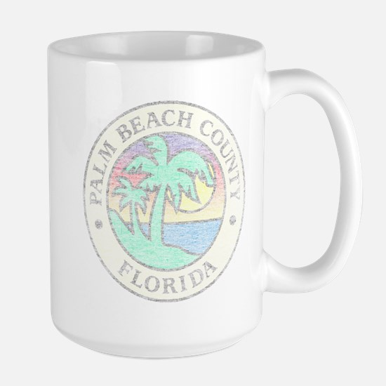Vintage Palm Beach County Large Mug