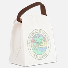 Vintage Palm Beach County Canvas Lunch Bag