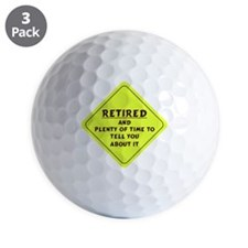 Retired Caution Sign Golf Ball