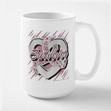 Survivor in Heart Mug