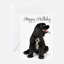 Cocker Spaniel Birthday Greeting Card