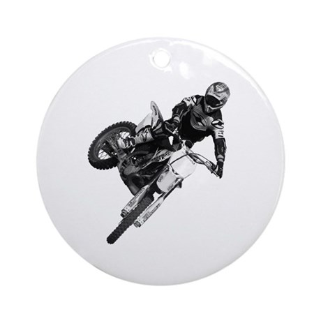 Dirt bike High Flying Ornament (Round)