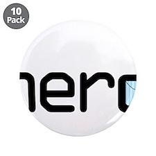 """Nerd 3.5"""" Button (10 pack)"""
