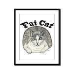Fat Cat Framed Panel Print