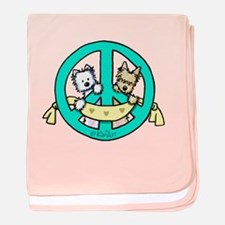 Terriers For Peace baby blanket