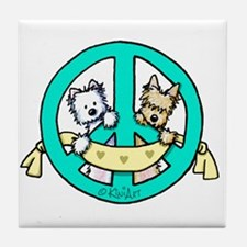 Terriers For Peace Tile Coaster