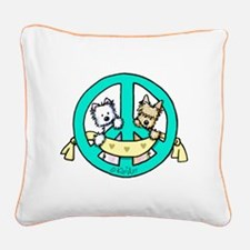 Terriers For Peace Square Canvas Pillow