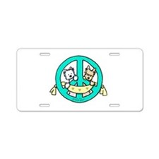 Terriers For Peace Aluminum License Plate