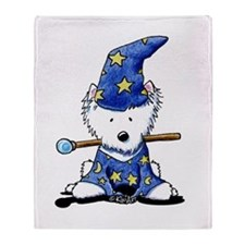 Merlin Westie Wizard Throw Blanket