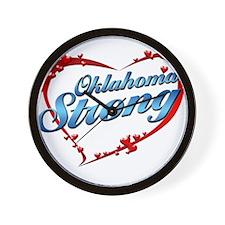Oklahoma Strong copy Wall Clock
