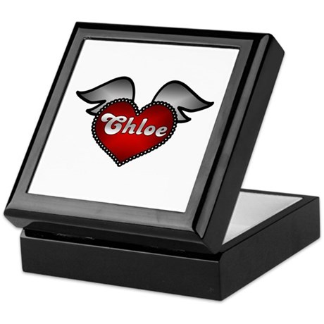 """Chloe Heart with Wings"" Keepsake Box"