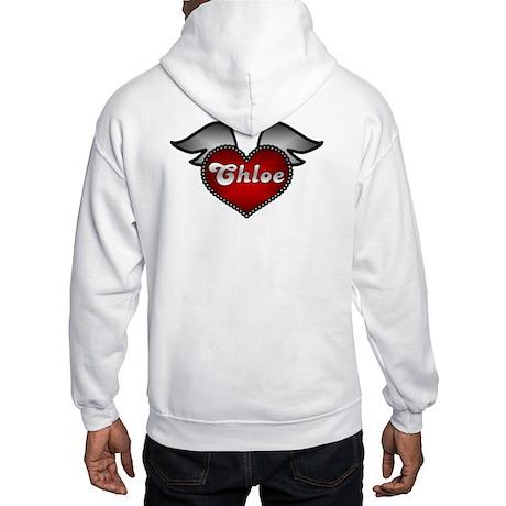 """Chloe Heart with Wings"" Hooded Sweatshirt"