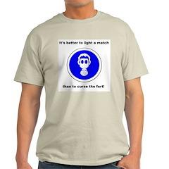 Light a Match... Gas Mask Ash Grey T-Shirt