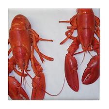 Twin Lobsters Merchandise Tile Coaster