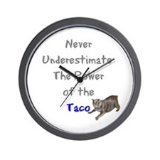 Power of the Taco Wall Clock