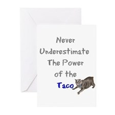 Power of the Taco Greeting Cards (Pk of 10)