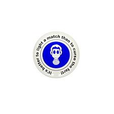 Light a Match... Gas Mask Mini Button