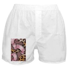 Leopards and Lace - Pink Boxer Shorts
