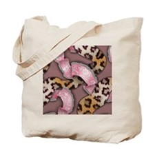 Leopards and Lace - Pink Tote Bag