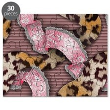 Leopards and Lace - Pink Puzzle