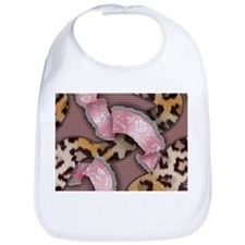 Leopards and Lace - Pink Bib