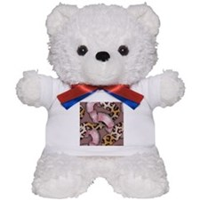 Leopards and Lace - Pink Teddy Bear