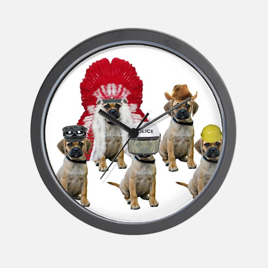Village Puggles Wall Clock