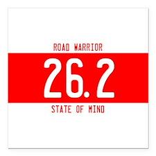 "Road Warrior License Plates Square Car Magnet 3"" x"