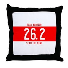 Road Warrior License Plates Throw Pillow