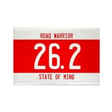 Road Warrior License Plates Rectangle Magnet