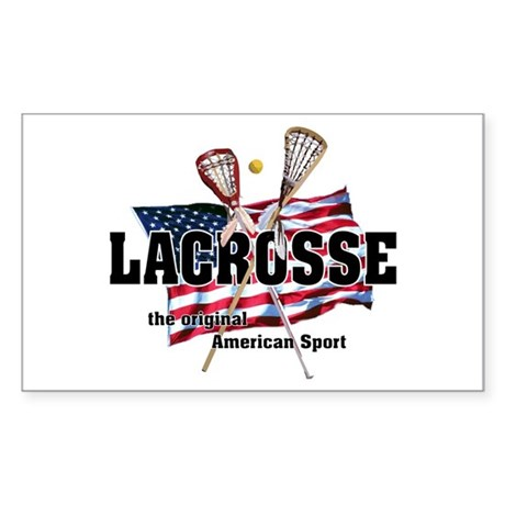Lacrosse Rectangle Sticker