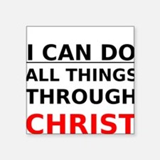 I Can Do All Things Through Christ Sticker
