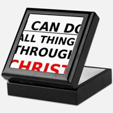 I Can Do All Things Through Christ Keepsake Box