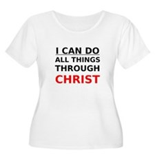 I Can Do All Things Through Christ Plus Size T-Shi