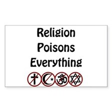 relligion poisons everything Decal