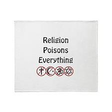 relligion poisons everything Throw Blanket